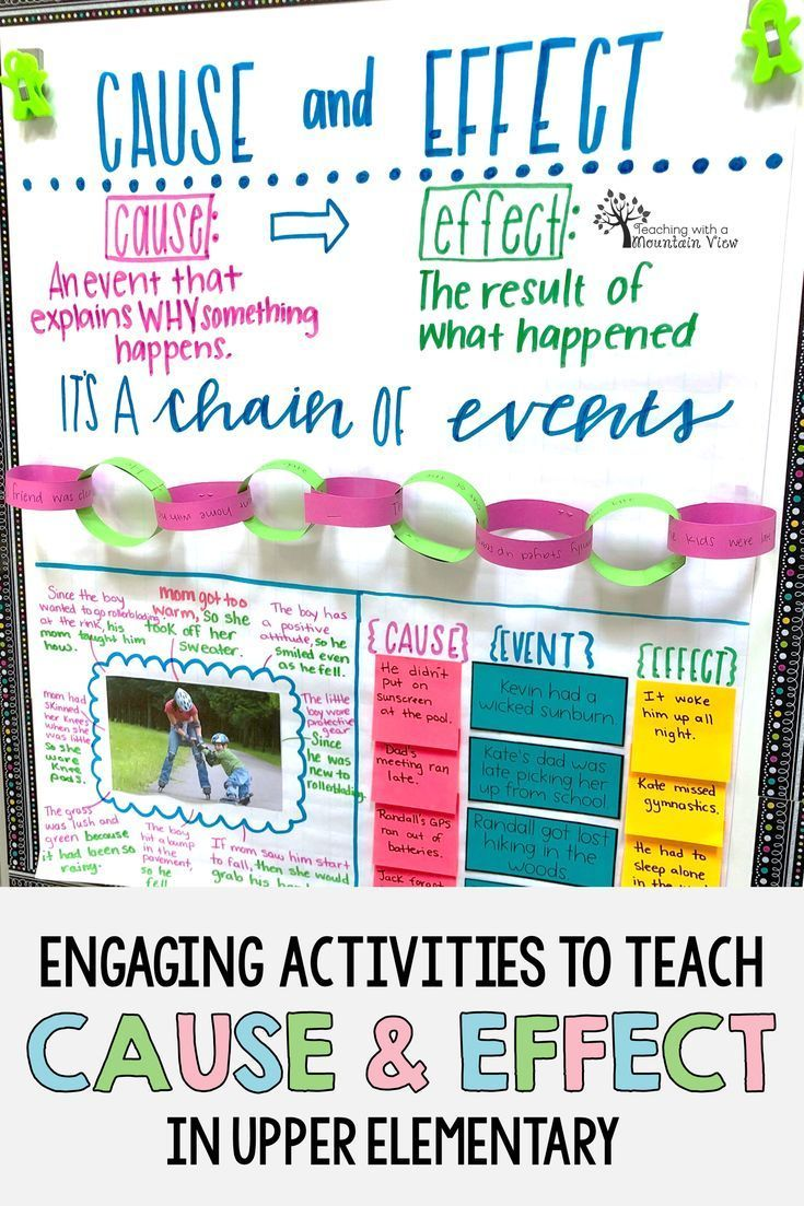 Teaching Cause And Effect In Upper Elementary Teaching Teaching