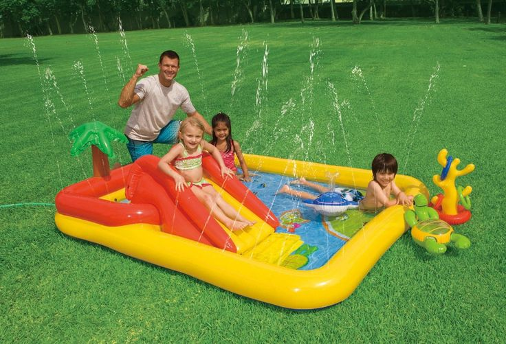 """Amazon.com: Intex Ocean Inflatable Play Center, 100"""" X 77"""" X 31"""", for Ages 2+: Toys & Games"""
