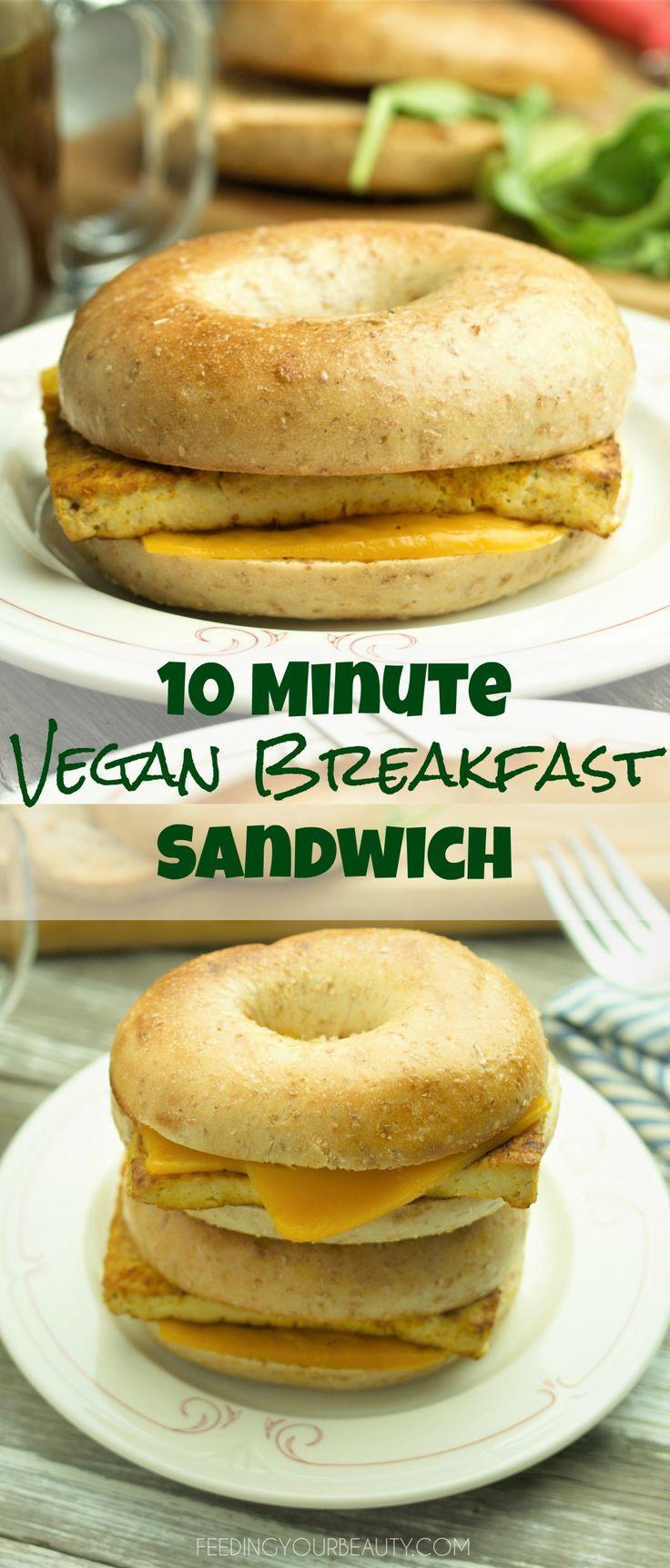 10 Minute Vegan Breakfast Sandwich