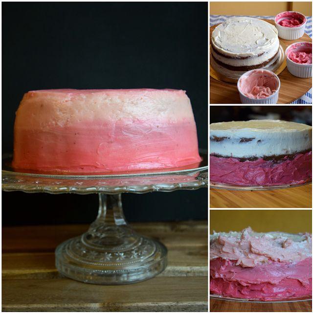 Szefer w kuchni: Różany tort ombre na dzień Matki