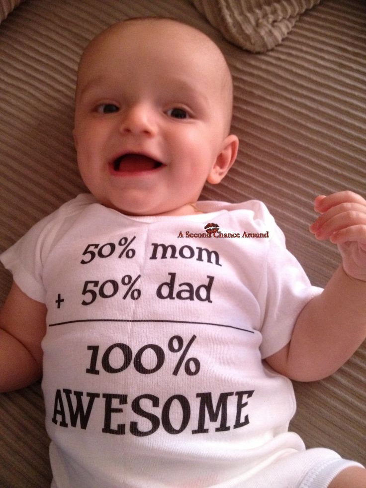 50% Mom 50% Dad 100% Awesome