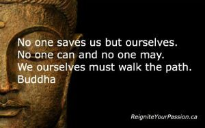 walk the path buddha