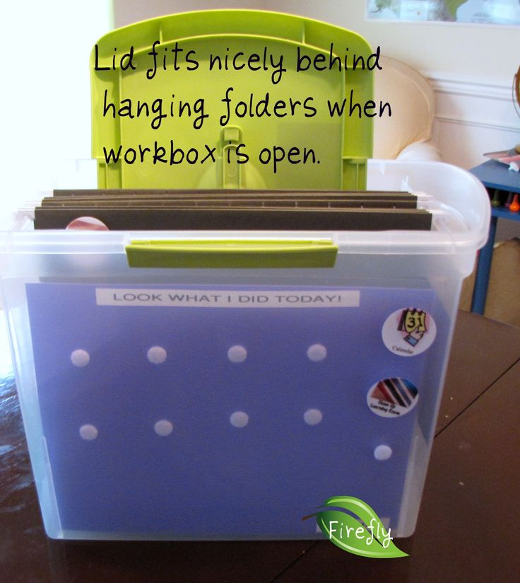 portable homeschool workbox system... Great if you don't have a lot of space for the original system