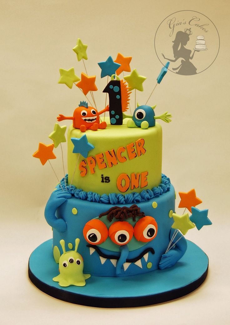 Monster Birthday Cake By Gia S Cakes Monster Birthday