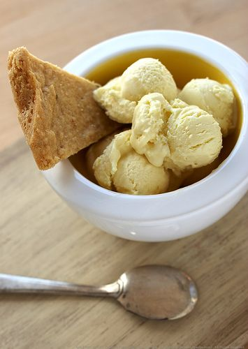 ... : Lemon-Olive Oil Ice Cream with Lemon Rosemary Cornmeal Shortbread