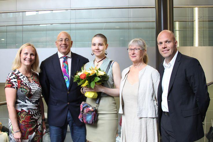 Winner 2016 Tiina-Liisa Kaalamo & judges