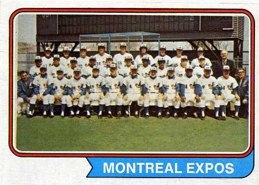 1974 montreal expos   1974 Topps Baseball 508 Montreal Expos Team Card