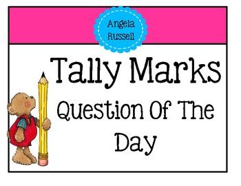 This is a fun way to practice tally marks as a whole group. On your dry-erase whiteboard place the question of the day. Underneath the question write the words yes/no. Read the question. Have the children go up to the board one by one and place a tally mark under