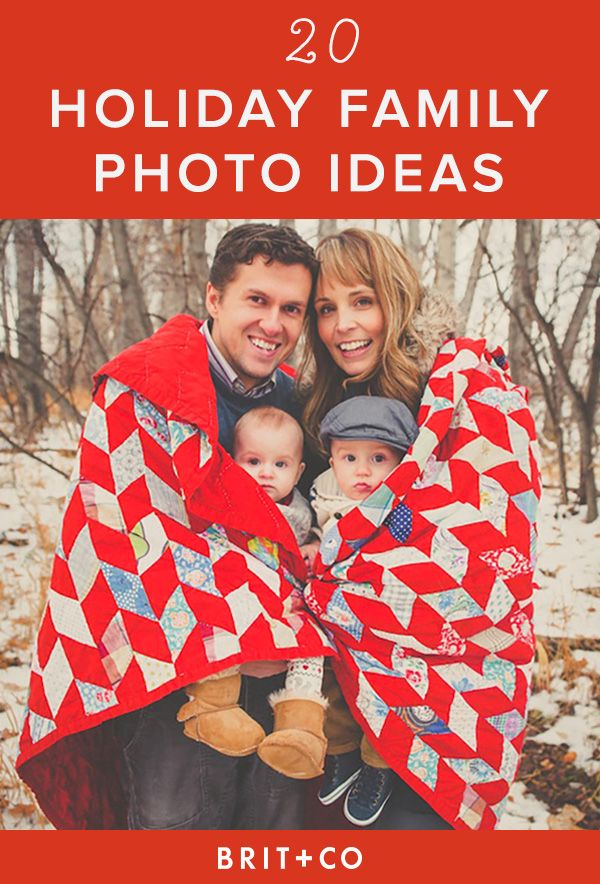Bookmark these family photo ideas for your holiday card.