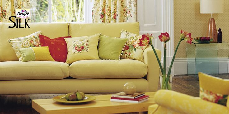 Choose from a wide range of soft hues by #BergerSilk, couple with delicate wispy fabrics & soft toned furnishing.