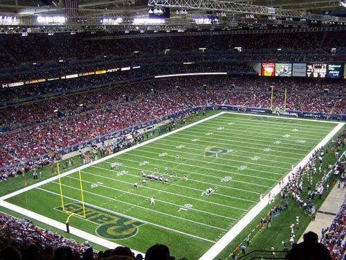Edward Jones Dome - Home of St. Louis Rams Football / http://www.stlouisrams.com/edward-jones-dome/index.html