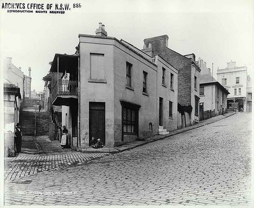 17.Ferry Lane and Pottinger Street, The Rocks. The site of the first recorded outbreak of Bubonic Plague in Sydney. | Flickr - Photo Sharing!
