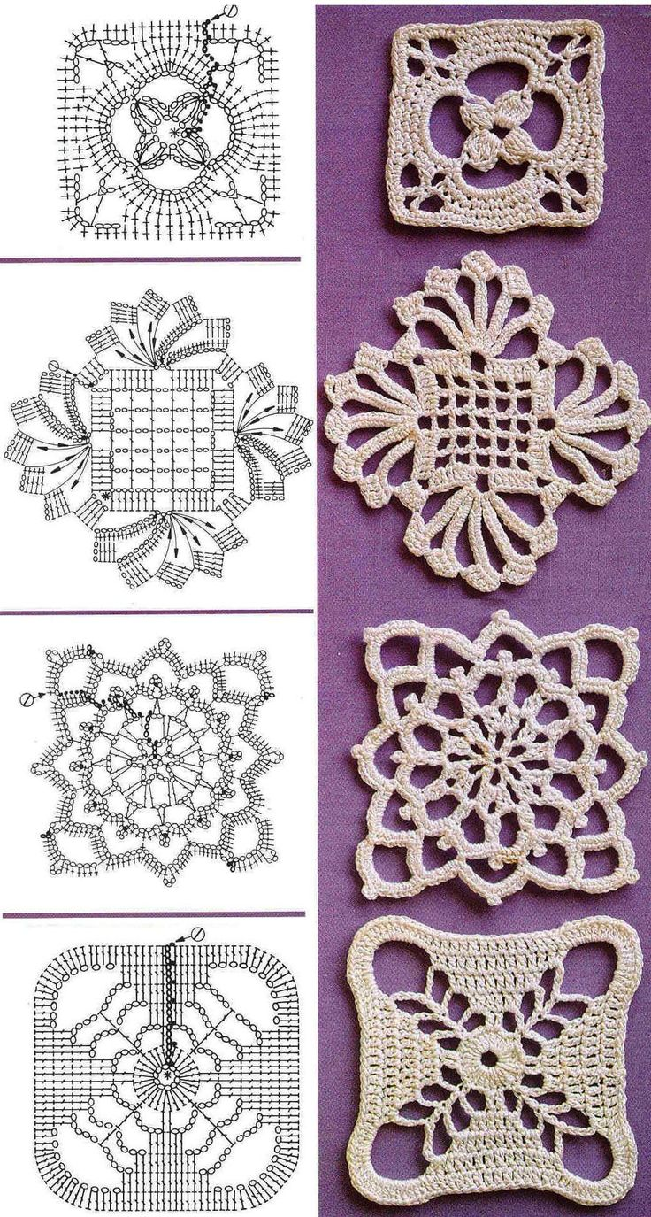crochet motif diagrams