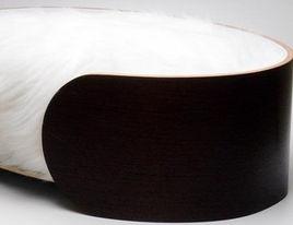 Modern Pet Accessories-Ellipse Pet Bed/Faux Fur