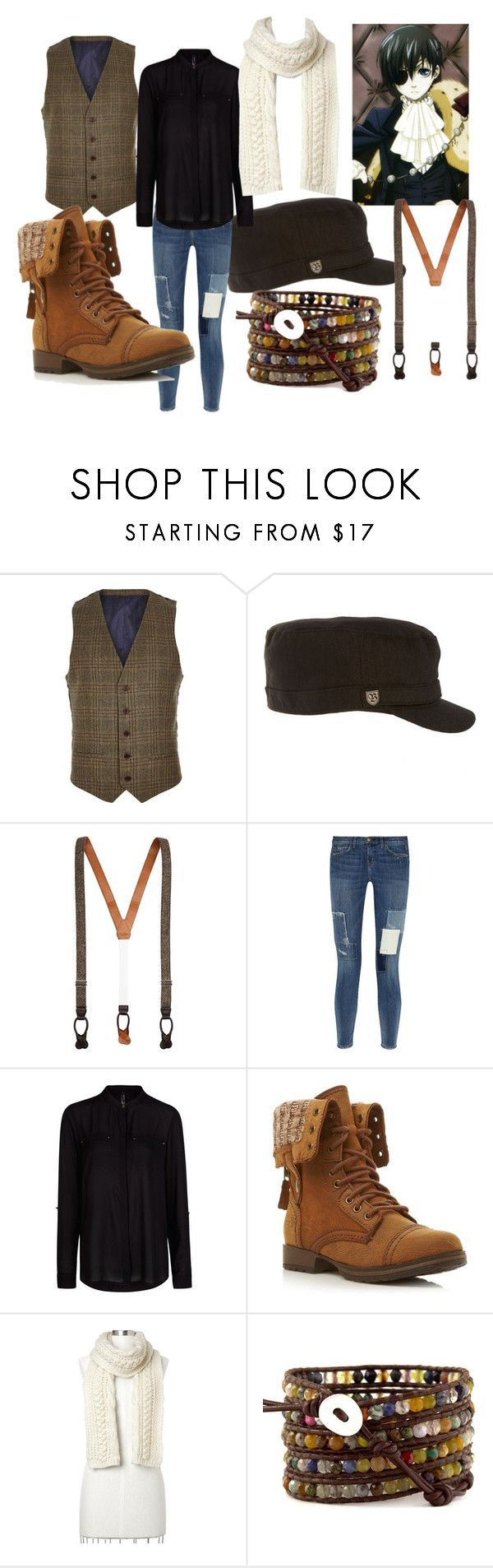 Disguised Ciel Phantomhive by animangafashion on Polyvore featuring moda, MANGO, Current/Elliott, Head Over Heels by Dune, Gap, River Island, Brixton, Brooks Brothers and Ciel