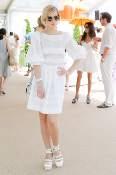The Sixth Annual Veuve Clicquot Polo Classic: Leigh Lezark in Chanel