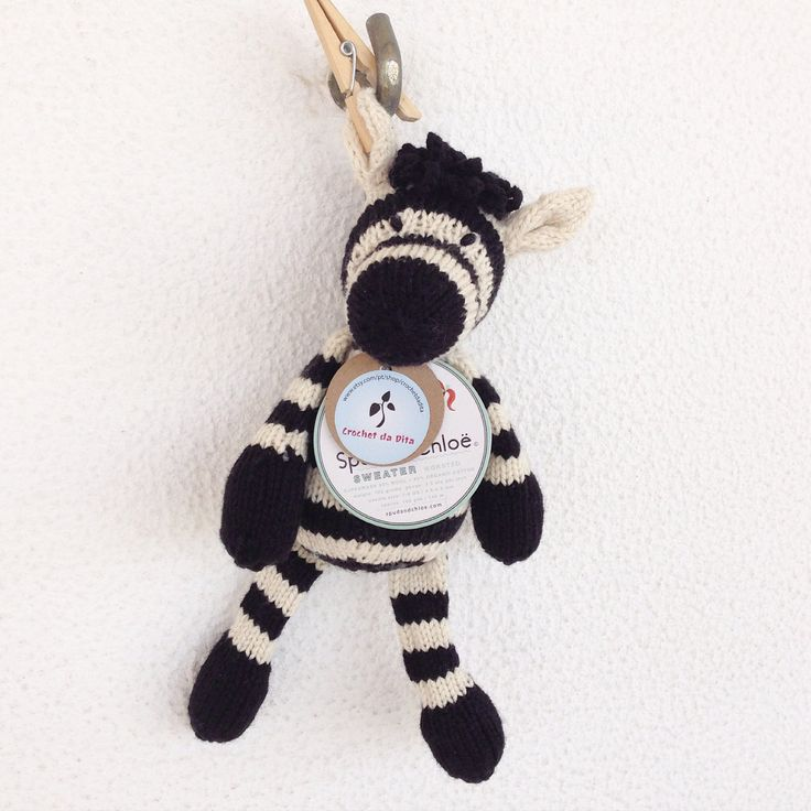 Em stock - peluche tricotado à mão - brinquedo bébé - quarto bébé - prenda bébé - Polly a Zebra by crochetdadita on Etsy