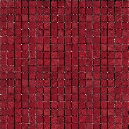 Coral 4 - Fabulous warm red mosaic tile with odd squares of orange - Creating warmth and cosiness.