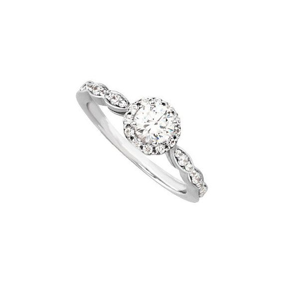 Vintage Style Diamond Engagement Ring The by RighteousRecycling