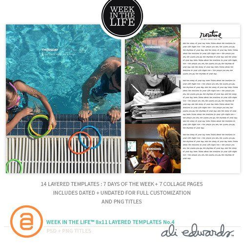 Week In The Life™ 8.5x11 Layered Templates Vol. 4 at Ali Edwards
