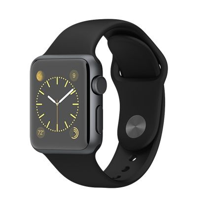 Apple Watch Sport - 38mm Space Gray Aluminum Case with Black Sport Band - Apple