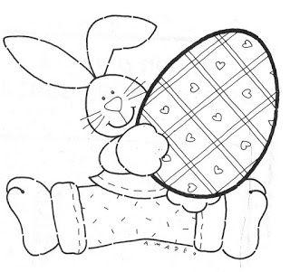 Molde coelho com ovo