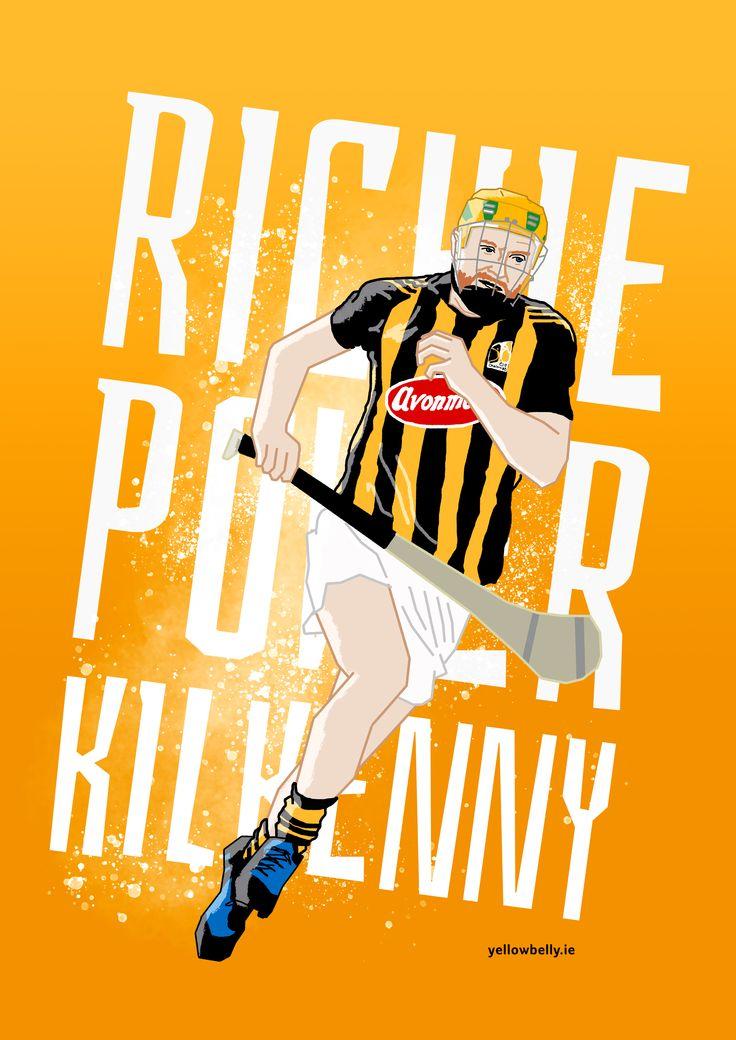 Richie Power, Kilkenny, Hurling, Poster, Illustration, GAA, Croke Park, Leinster, Ireland, Artwork, Sport