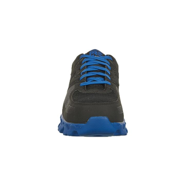 Timberland Pro Men's Powertrain Alloy Safety Toe Work Shoes (Black/Blue Microfibe) - 10.5 M