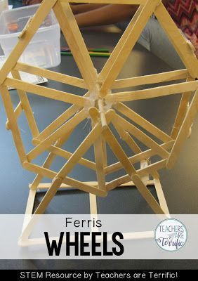 STEM Challenge- build a turning Ferris wheel using only sticks and glue. Can you solve the geometry of this one?