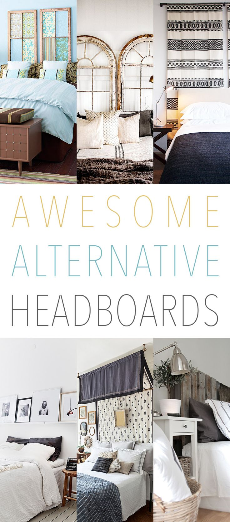 23 Awesome Alternative Headboards...you might just find one that you love!