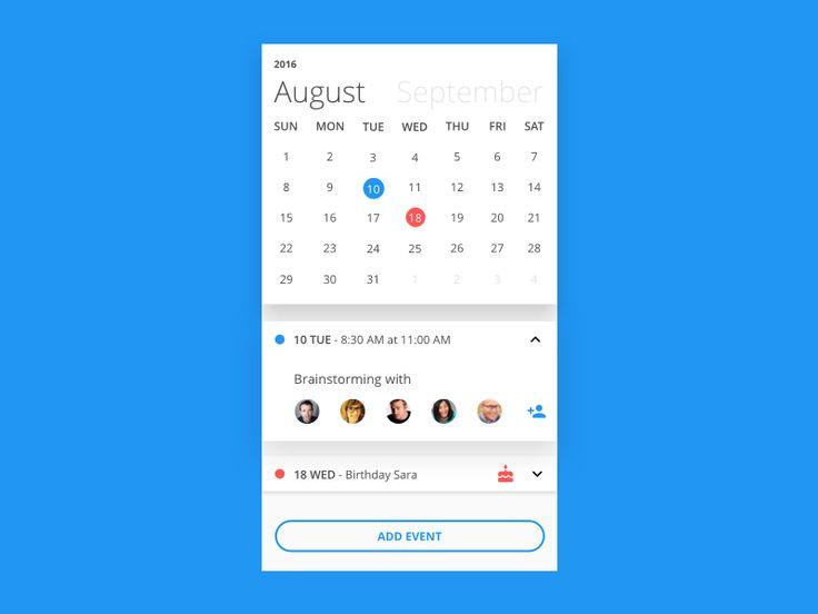 Calendar App by Alessandro Cataldi