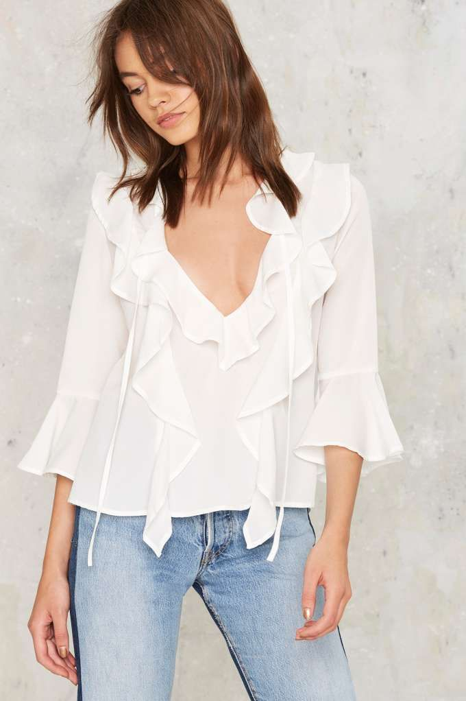 Danity Ruffle Blouse - Sale: Newly Added | Sale: 30% Off | Blouses | Tops…