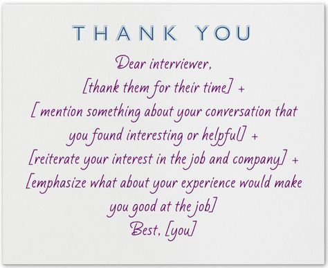How to write a great thank you note after an interview [here's our template] and other tips: http://www.prepary.com/how-to-write-a-thank-you-note-after-an-interview/