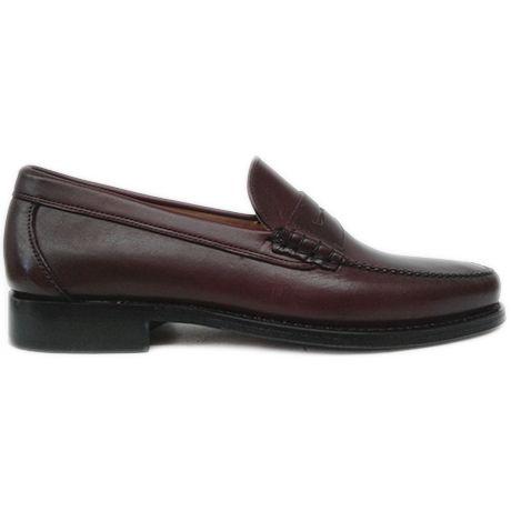 8290 zapato mocasín beefroll en piel engrasada burdeos de Currucanero | Calzados Garrido
