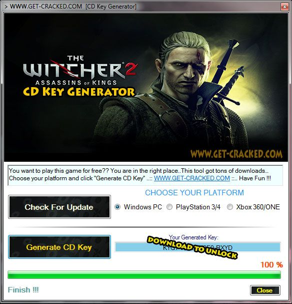 The Witcher 2 Assassins of Kings CD Key Generator 2016