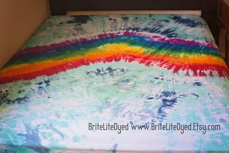 Bedding, Sheets, Tie Dye Bedding Bed Sheet Set ,Tie Dye Sheets, Flat Sheet, Fitted Sheet, Pillowcase(s) CUSTOM LISTING by BriteLiteDyed on Etsy