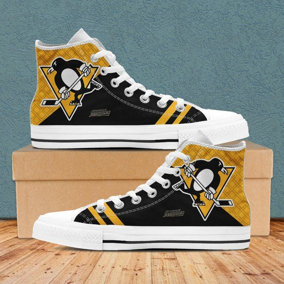 Pittsburgh Penguins Shoes, Pittsburgh Penguins Custom High
