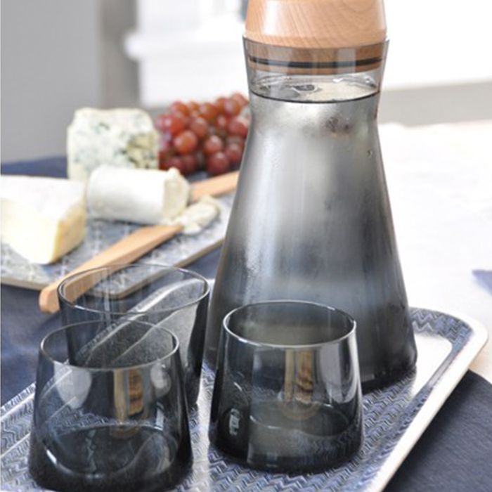 Beaker-Shaped Carafe & Glasses Set