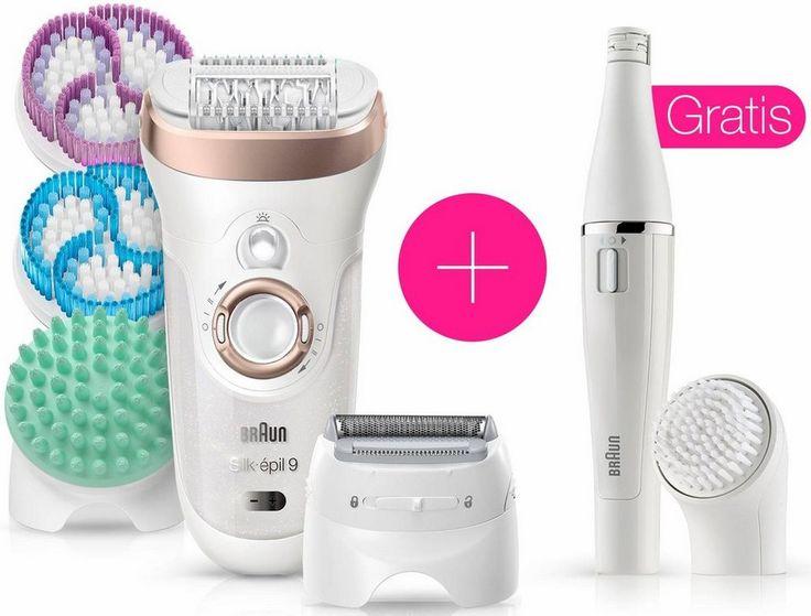 Braun Epilierer Silk-épil 9 SkinSpa 9-961v + Face 810, Gratis Gesichtsepilierer + Reinigungsbürste
