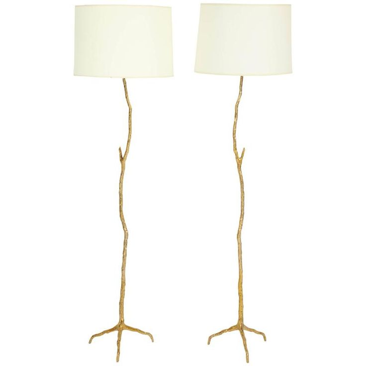 111 best lighting images on pinterest chandeliers light pair of bronze maison arlus twig floor lamps mozeypictures Image collections