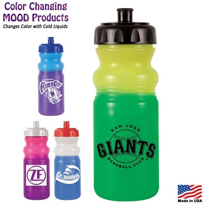 Promotional 20 oz. Color Changing Mood Water Bottle   Customized Water Bottles   Promotional Water Bottles