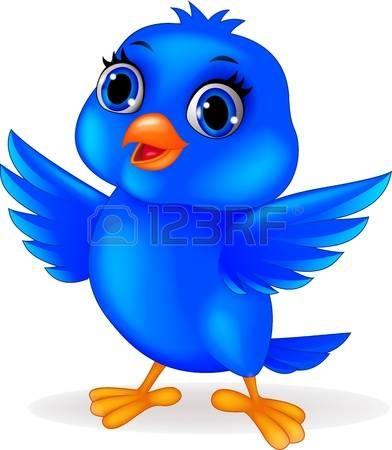 Dessin anim� oiseau bleu photo