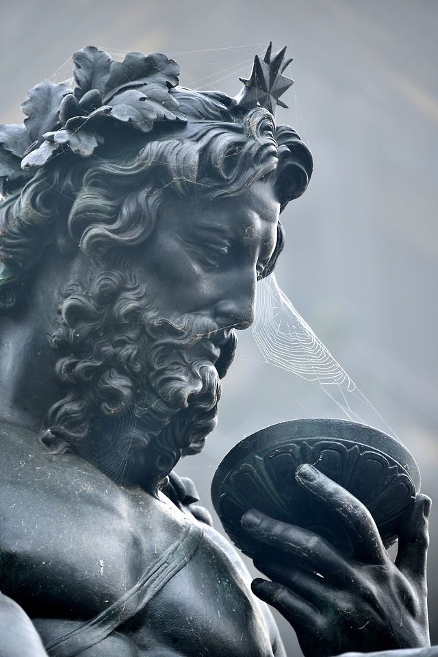 Zeus, god of the sky and thunder. He ruled as king of the gods of Mount Olympus.