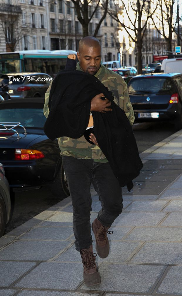 Kanye West in the adidas Yeezy Duck Boot