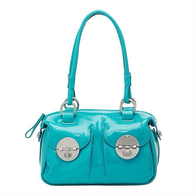 Mimco Mini turn lock bag in Atlanta blue