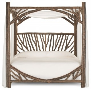 Rustic Canopy Bed 4282 from La Lune Collection - beds - La Lune Collection