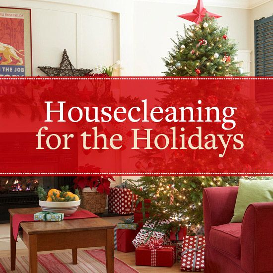 Holiday Housecleaning Tips from Better Homes and Gardens.  7 Day Cleaning Plan broken down in to tasks by day.  1 Hour Quick Clean Plan to prepare your home before guests arrive.  Includes FREE Printable 7-Day Cleaning Plan, 1-Hour Quick Clean Plan & Emergency Housecleaning Guide.