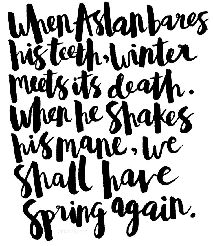 The Chronicles of Narnia quotes Lettering by Amanda Inez