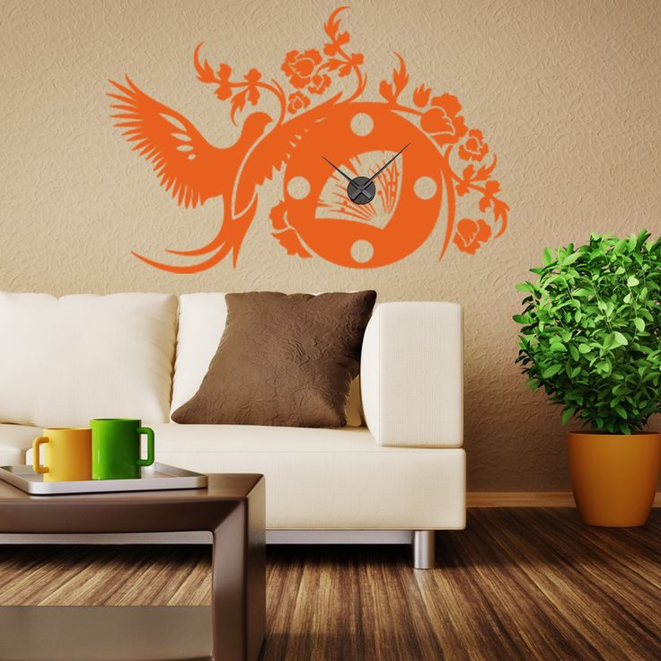 Style and Apply Asian Wall Clock Vinyl Decor Wall Art