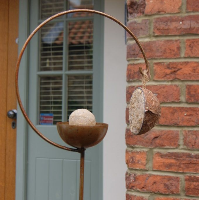 The Freya Bird Crook is an eye-catching feature from which to enjoy your visiting birds.